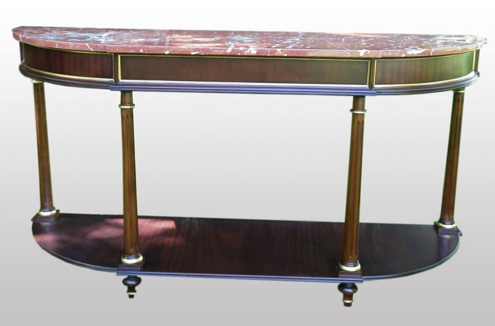 3800 CONSOLE L.XVI, Consolle made of mahogany with top in red marble, classic style