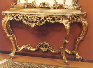 560 console, Baroque style console with marble top