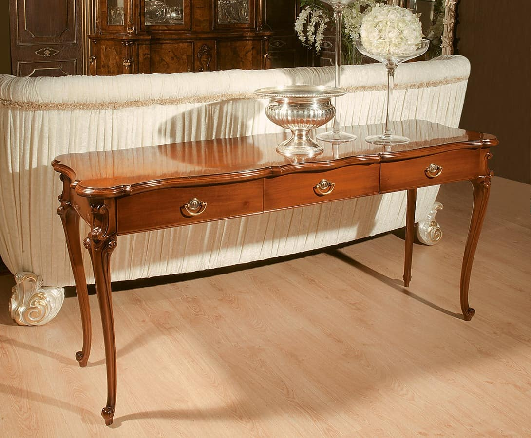 Art. 1072, Semi-gloss consolle made of walnut, style end of 800