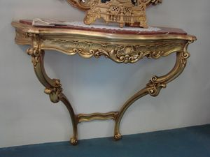 Art. 113, Carved console with red marble top