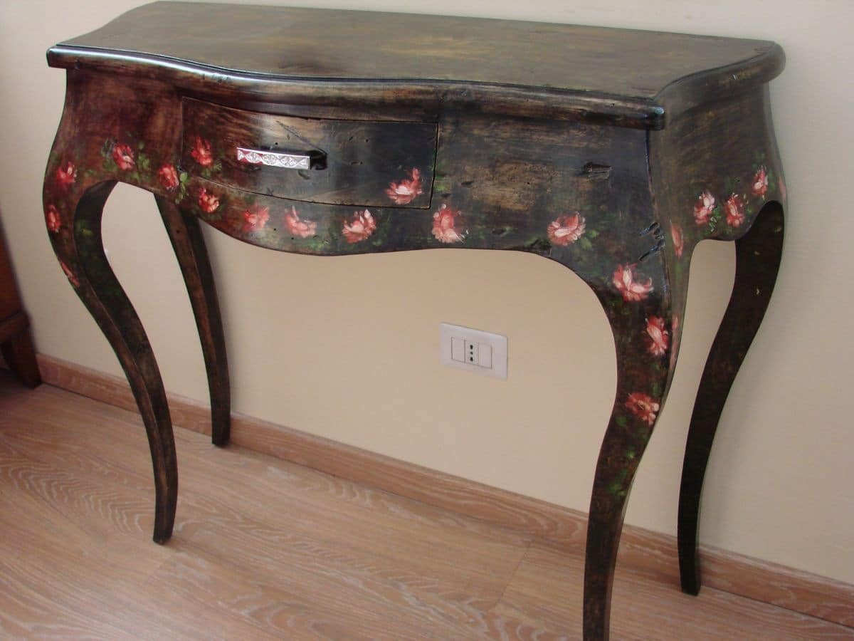 Art. 1449, Luxury classic console with 1 drawer, for entry