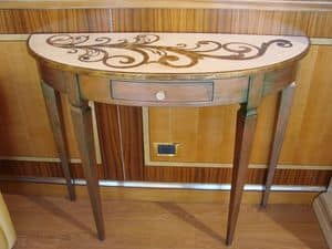 Art. 1918, Classic console, lacquered, in English-style, for Home