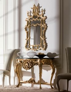 Art. 2055, Carved console, classic style, with marble top