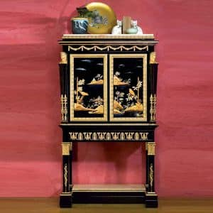 Art. 2098 Chinoiserie Luigi XV, Chinoiseire cabinet, with two doors, decorated by hand