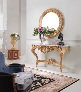 Art. 234, Console with Carrara white marble top