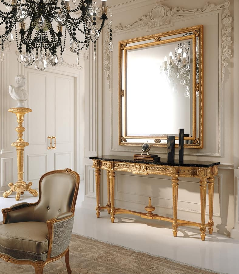 Art. 285, Classic console with black marble top