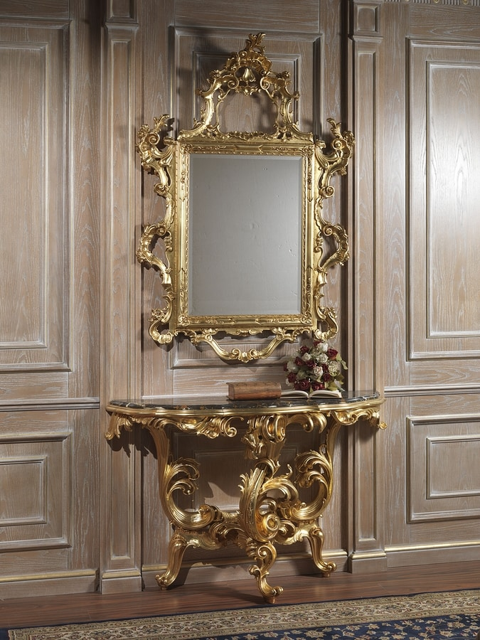 Art. 660 console, Classic console, with marble top