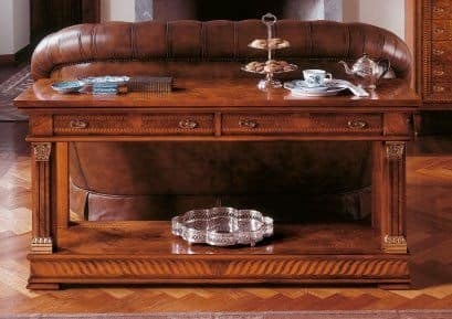 Art. 776/BF, Consolle with two wooden shelves, classic style