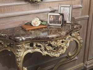 Art. 920 console, Console with emperador marble top