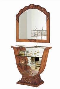 C606 Millennium, Inlaid console, classic luxury, mirror back
