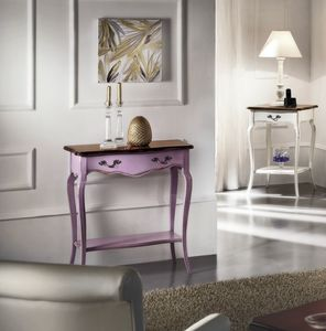 Console 18th century Lilac, Console in lacquered wood