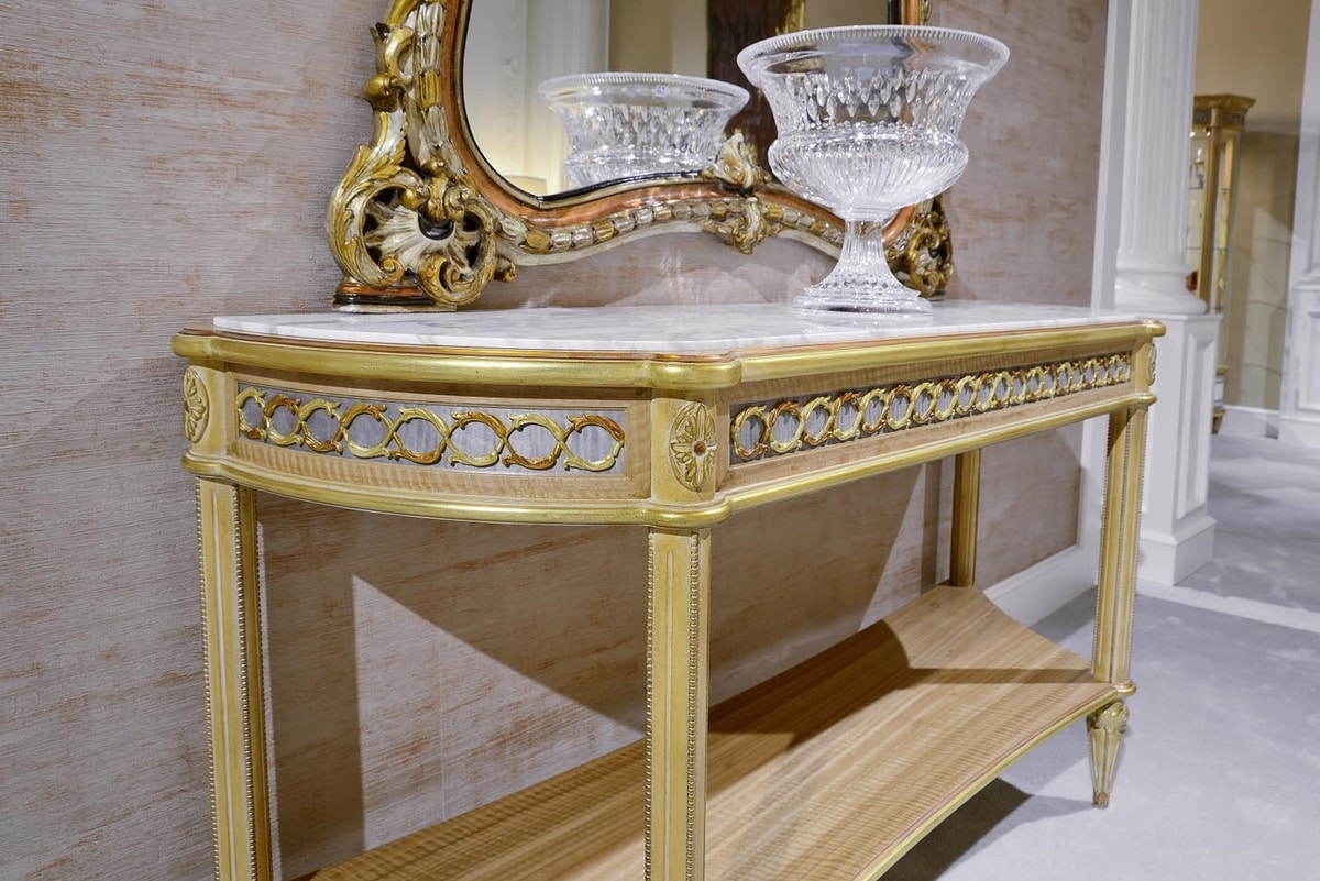 Console 4976 Louis XVI style, Classic console with carvings