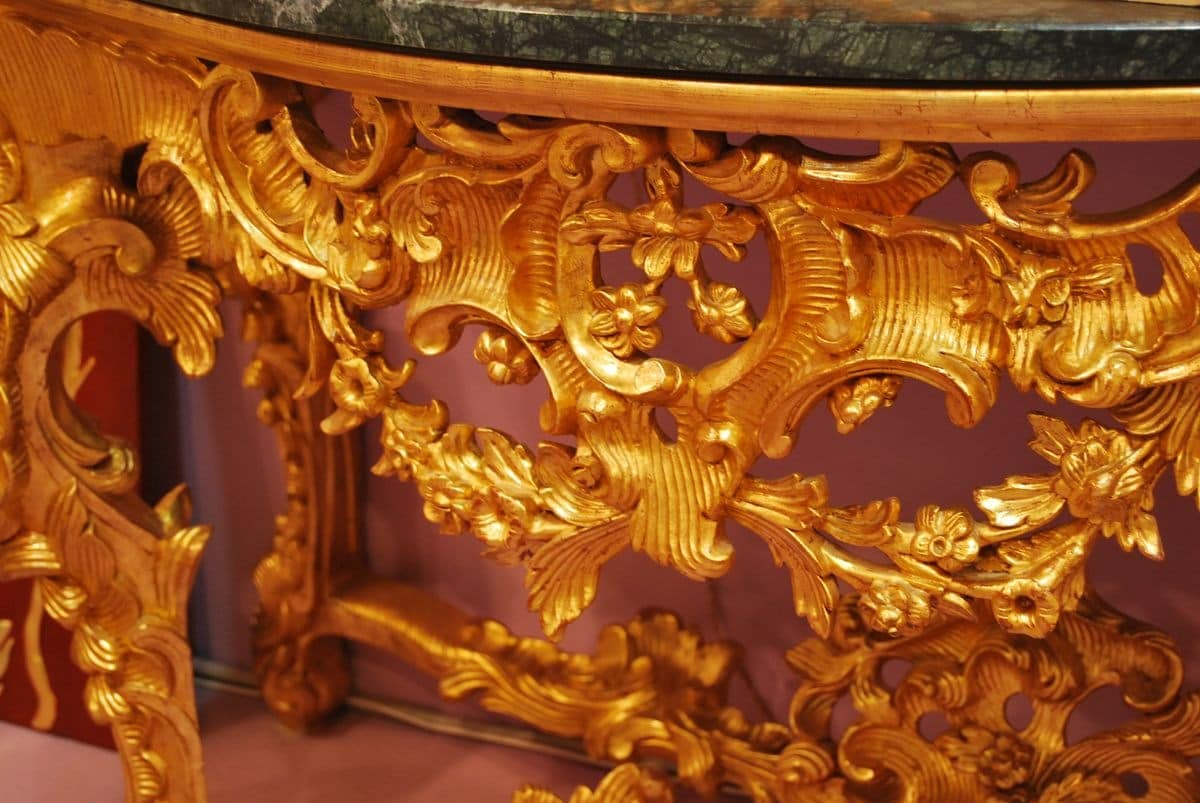 CONSOLE ART. CL 0002, Console carved in Baroque style, for luxury hotels