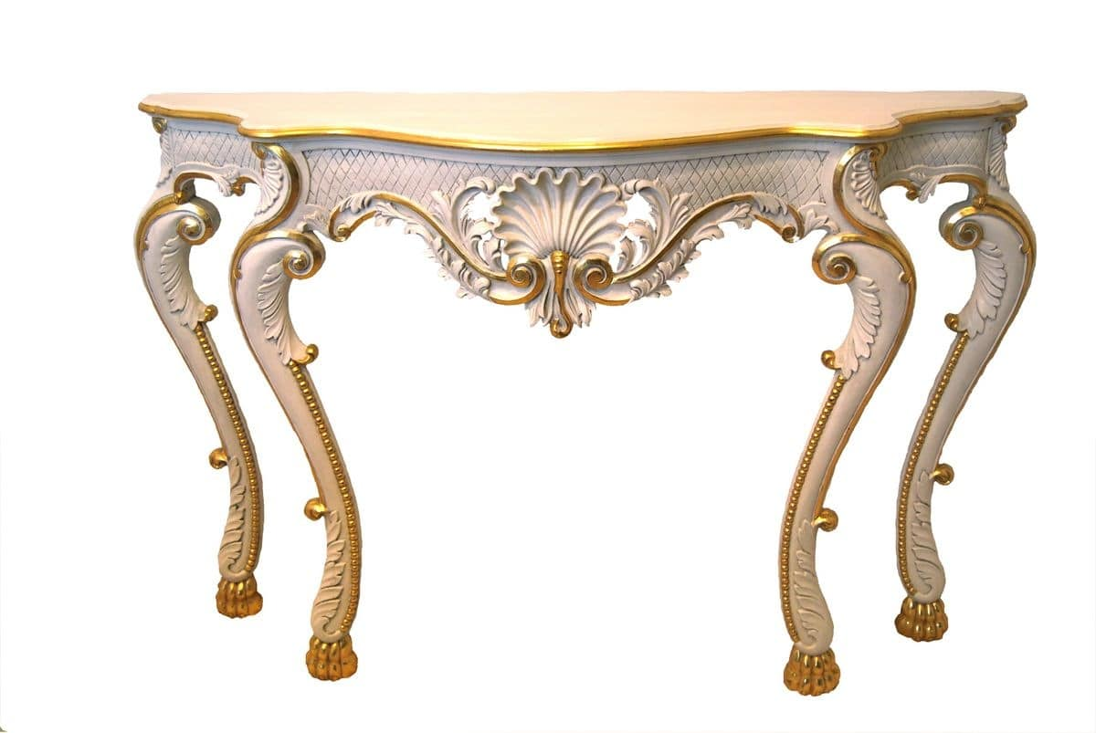 CONSOLE ART.CL 0018, Hand-carved console in classic luxury for entrances