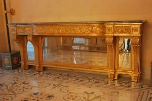 CONSOLE TABLE ART. CL 0061, Neoclassical carved console table, for hotels and villas