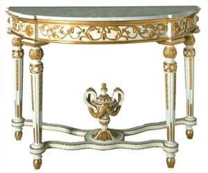 CONSOLLE ART.CL 0006, Half moon console in classic luxury style, for hotels