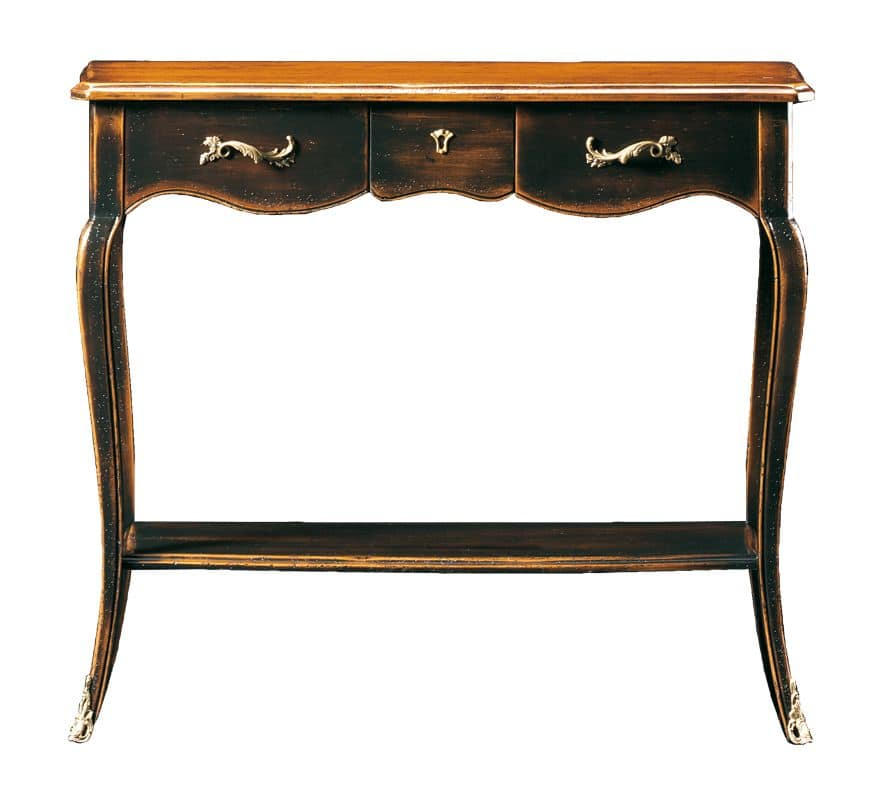 Doriana FA.0021, Console style Louis XV with 1 central drawer, ideal for entrance halls