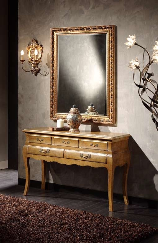 Doroty console, Wooden console table with drawers