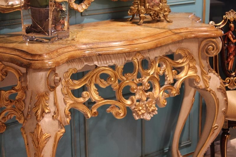 Ercole console, Luxurious console carved by hand