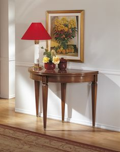 Extendable console table, Console convertible into a round table