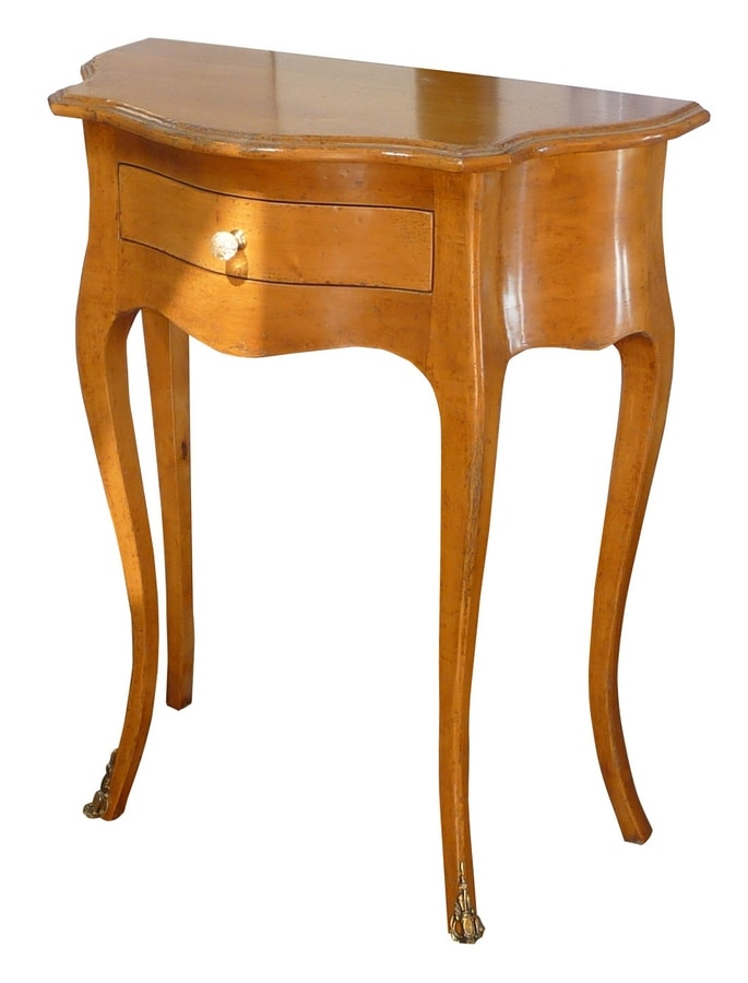 Fabiola FA.0024, Console in Louis XV style with 1 drawer, ideal for entrance halls