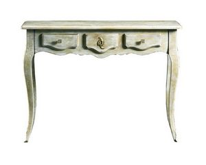 Matilde FA.0027, Console in Louis XV style with a central drawer, decorated in gold, for hotels