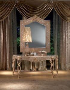 MB44 Vanity, Console in wood, gold leaf decorations, classic style