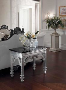 Opale console, Console with black marble top