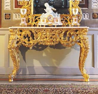 Opera console, Luxury classic console, hand carved by Italian master craftsmen