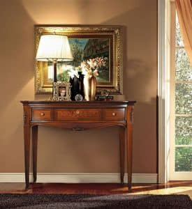 Praga Consolle, Wooden side table, hand carved, luxury classic style