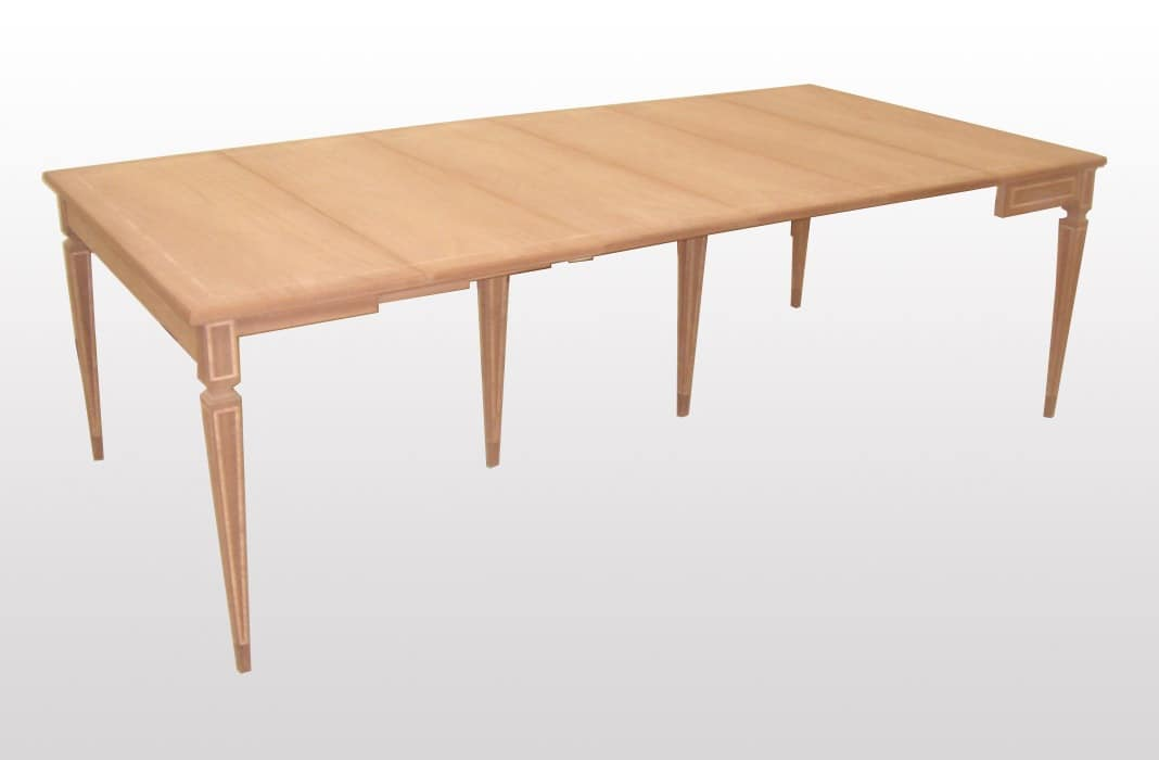 Spencer, Wood classic console, extendable, pyramid legs