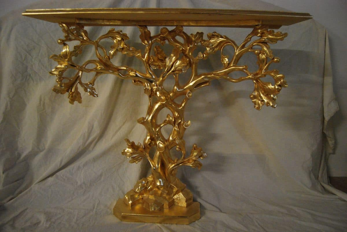 TREE CONSOLE ART. CL0062, Tree-shaped Console, hand-carved, gilded