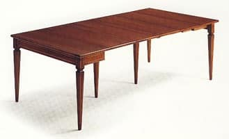 Wilburn, Wooden extendable console, walnut veneered
