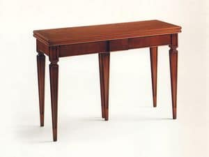 Wilburn, Wooden extendable console, walnut veneered