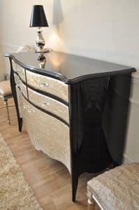 Art. 2404 Valentina, Sideboard in classic style, silver leaf finishes