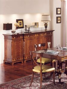 2845 sideboard, Inlaid sideboard, for dining room