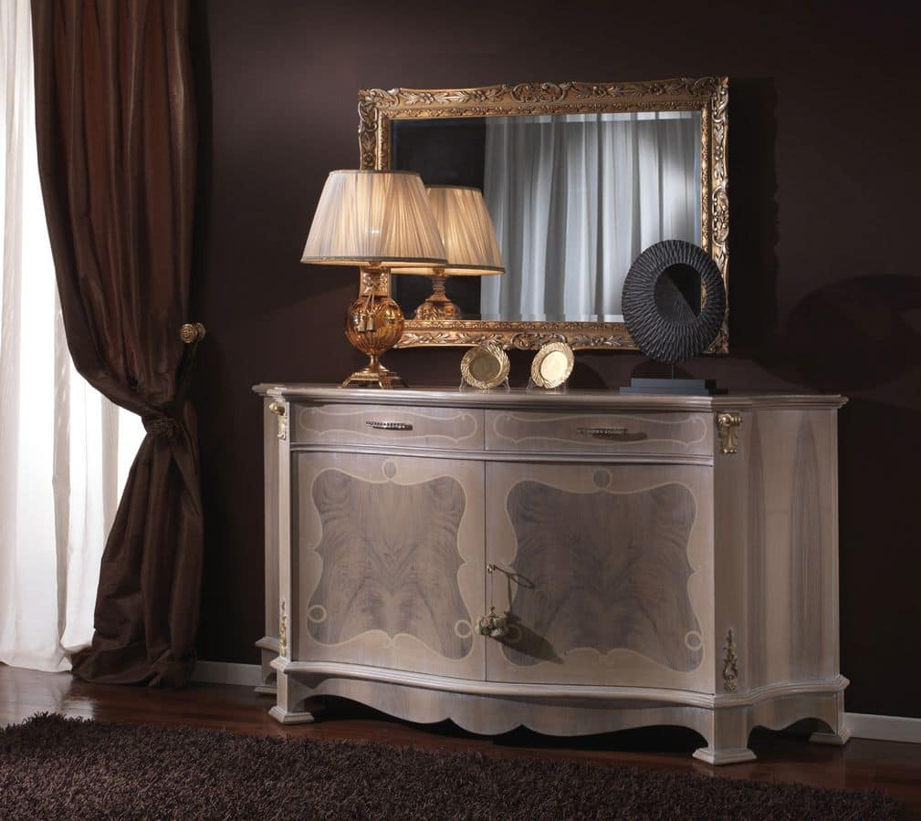 3640 CREDENZA, Classic sideboard ideal for living rooms and dining rooms
