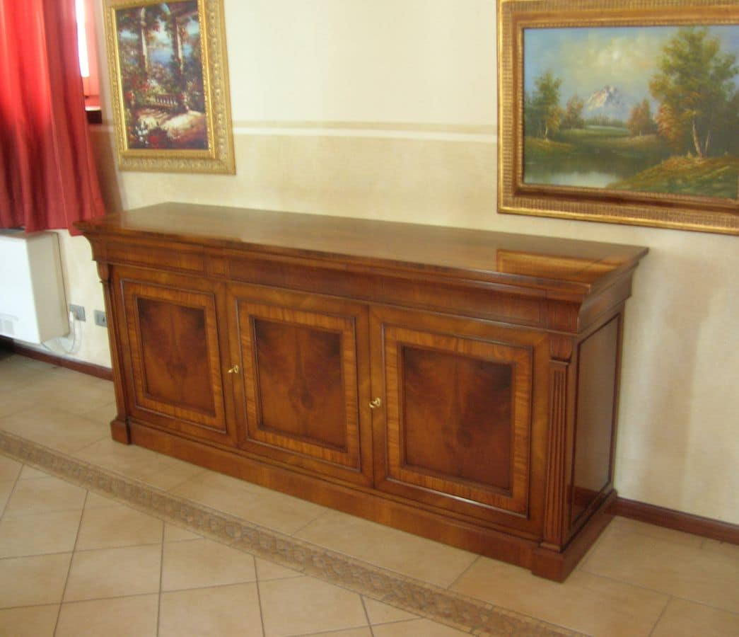 Albert, Classic style sideboard, elegant and refined, with handmade inlais