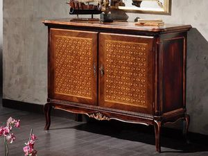 Alyssa cupboard, Sideboard with particular inlay on the doors