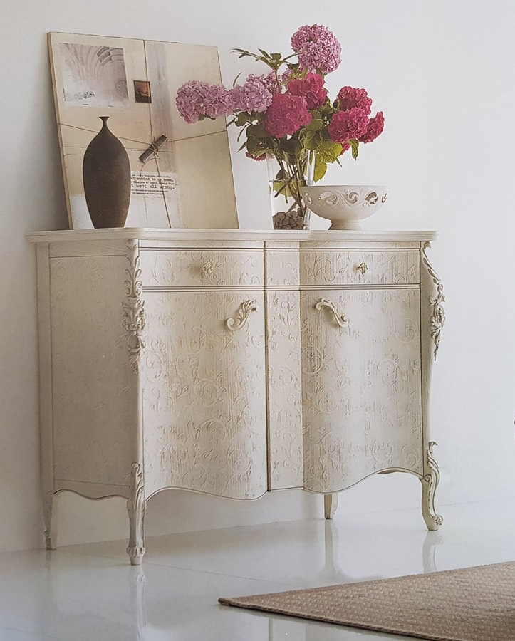 Art. 106C, Sideboard with lacquered parchment paper finish