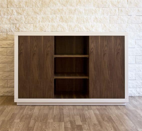 Art. 1506 Petra, Sideboard in lacquered wood, with movable walnut shelves