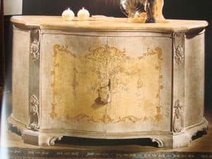Art. 1673/1, Sideboard with 2 doors for dining room, classic luxury