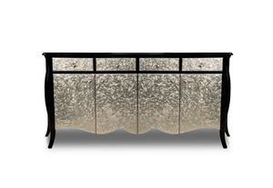 Art. 2411 Mar, Classic design sideboard, black and silver finish