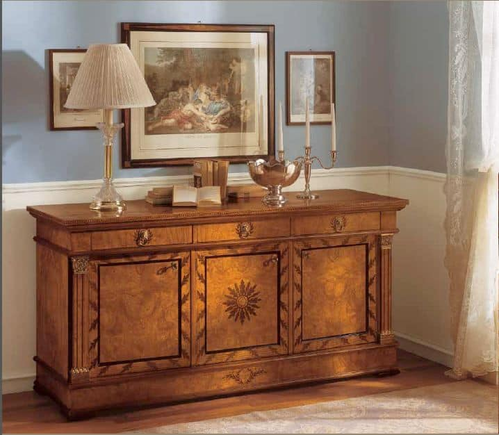 Art. 527/C3, Sideboard with 3 doors ideal for classic dining room