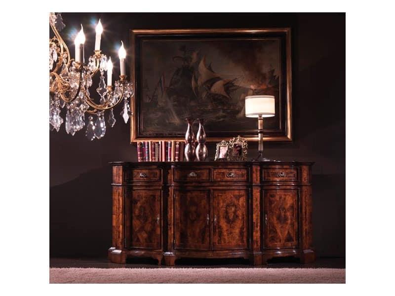 Art.886, Cupboard in walnut, Lombard style