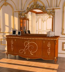 Botticelli sideboard, Classic sideboard with gold decorations