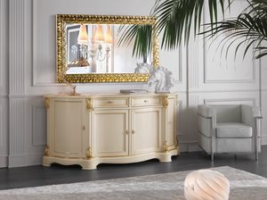 Brianza sideboard 4 doors lacquered, Classic lacquered sideboard