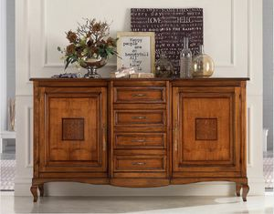 Bugne 2-door sideboard, Classic sideboard, with doors and drawers