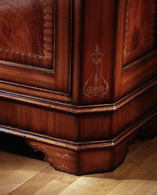 C 101, Mahogany sideboard, veneered, handmade