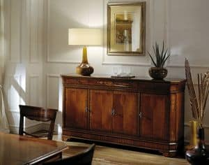 C 102, Mahogany sideboard, in classic style, inlaid